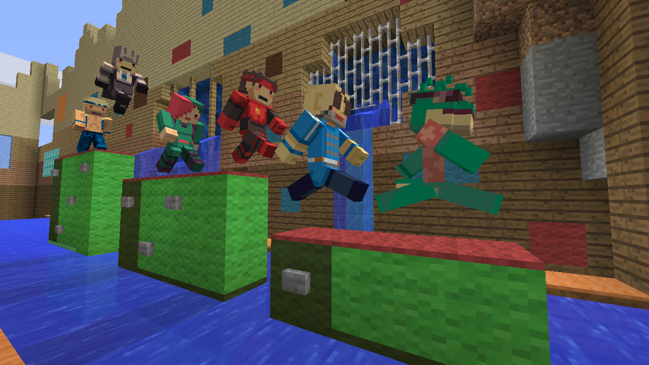 New skin pack brings Super Time Force to Minecraft