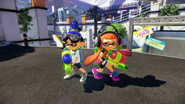Splatoon gets sticky with ink guns