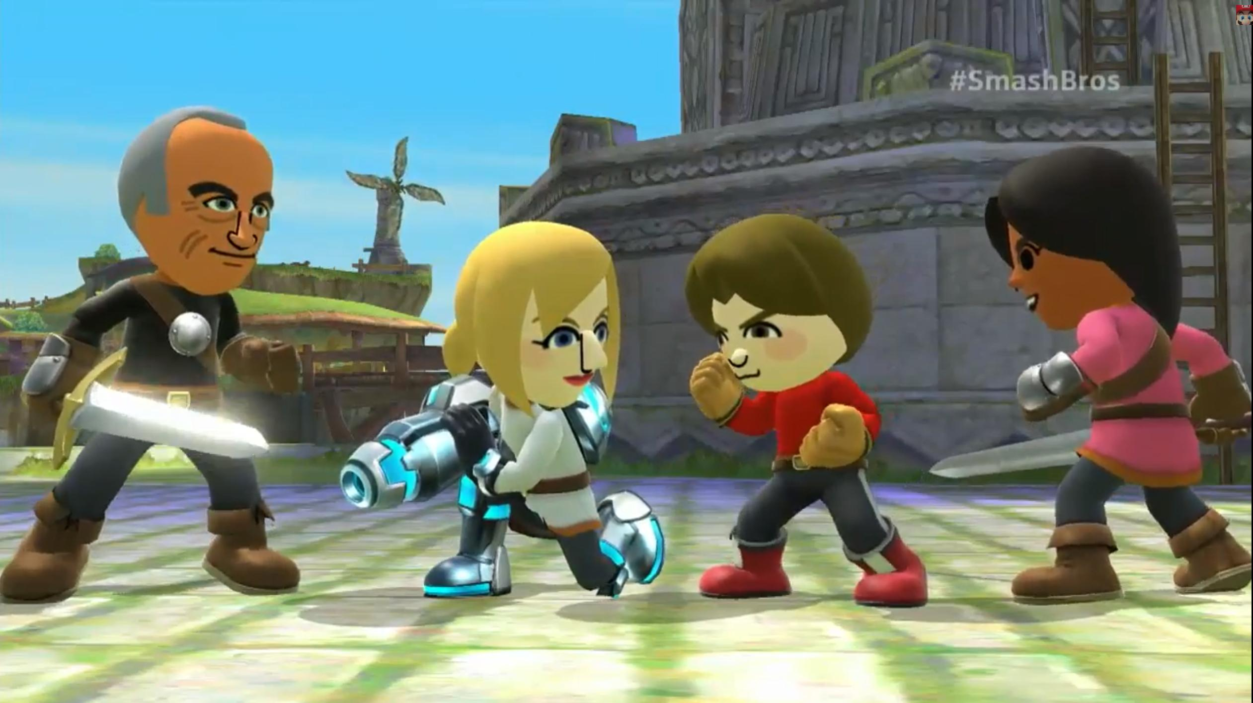 Super Smash Bros. out on Wii U this Christmas, play as your Mii!