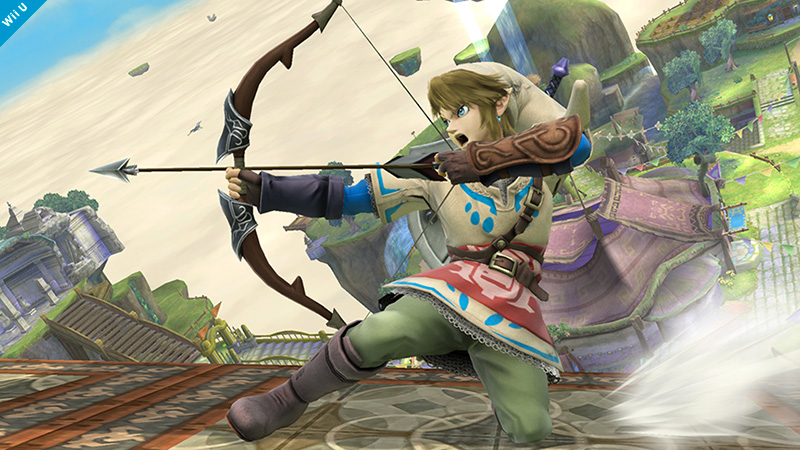 Link dresses all Skyward Sword for Super Smash Bros.