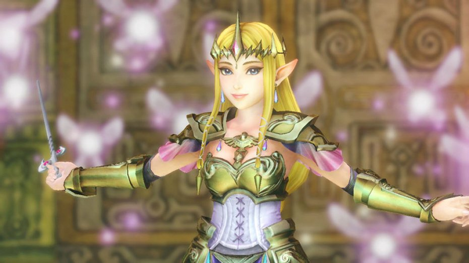Princess Zelda uses the Wind Waker in Hyrule Warriors