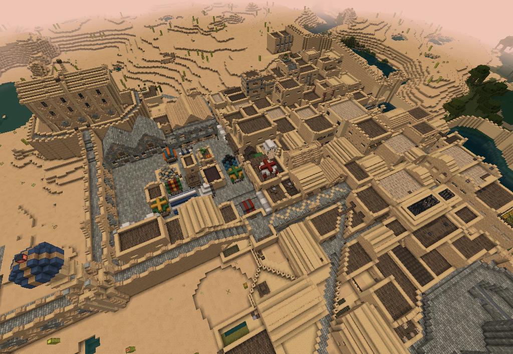 Whiteark is a huge desert city in Minecraft