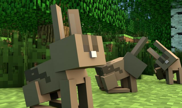 Bunnies are hopping into Minecraft
