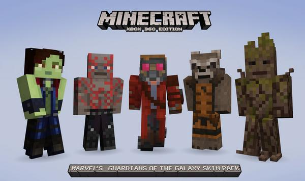 Minecraft Guardians of the Galaxy skins come to Xbox