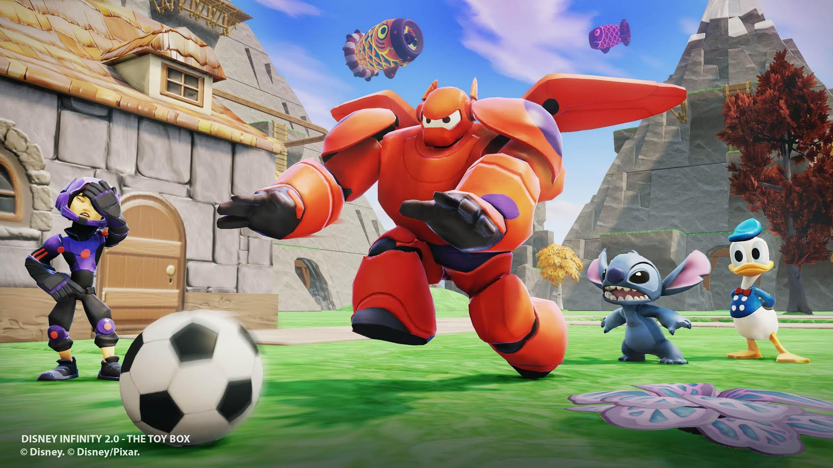 Baymax and Hiro dive into Disney Infinity 2.0