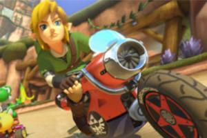 Link on a bike