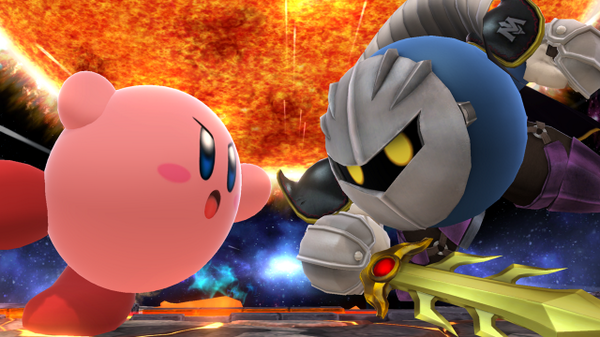 Meta Knight charges into Super Smash Bros.