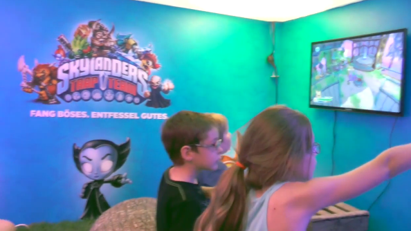 Checking out the Skylanders Mini-booth