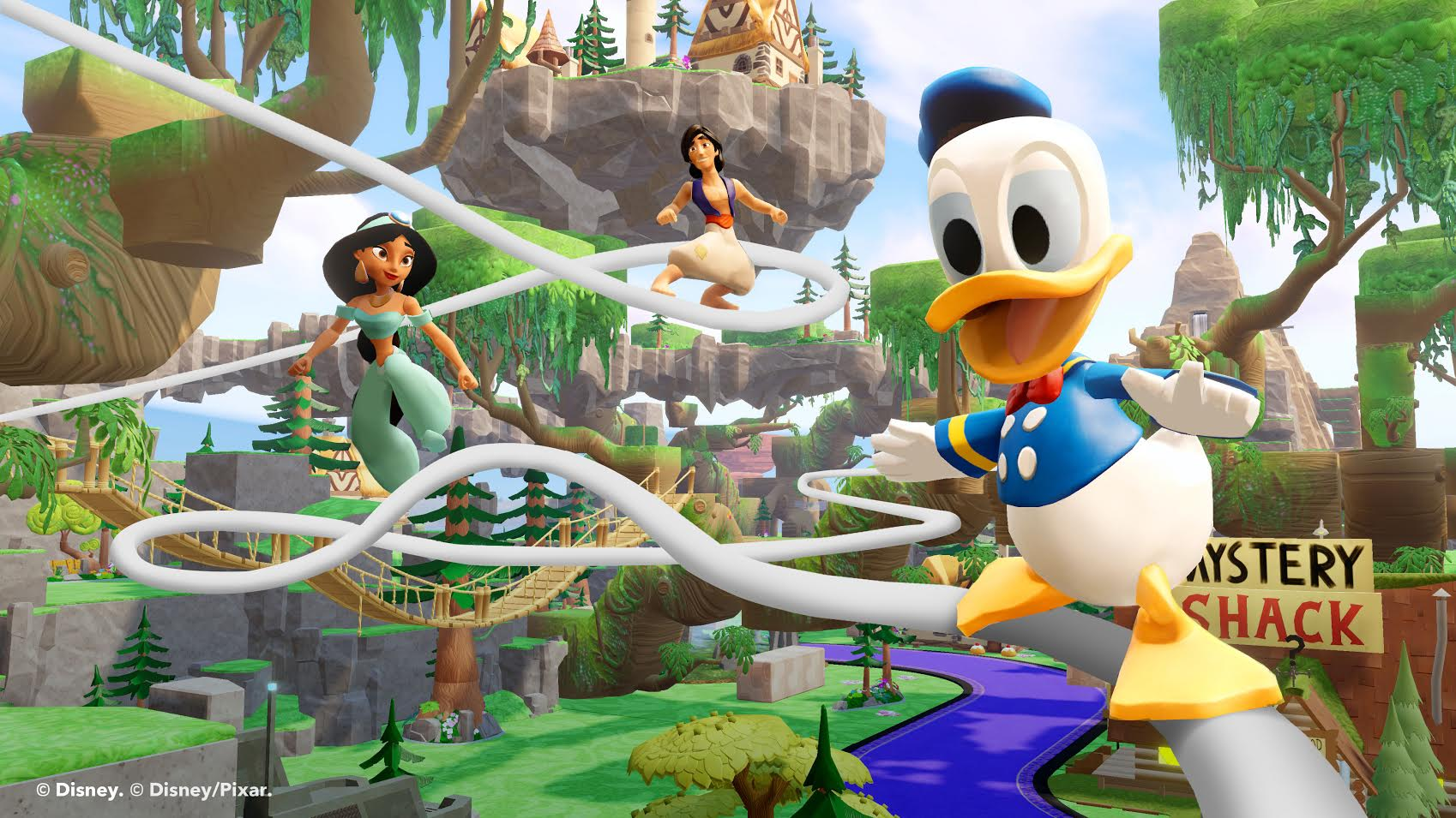 Hands on with Disney Infinity 2.0 Donald Duck, Stitch, and Tinkerbell