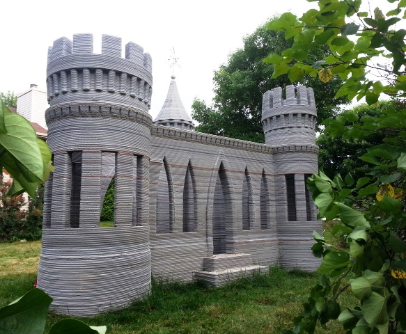 Check out this castle made by a 3D printer!