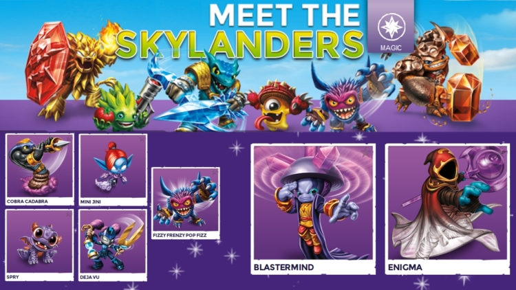 Up close with Skylanders Trap Team magic characters