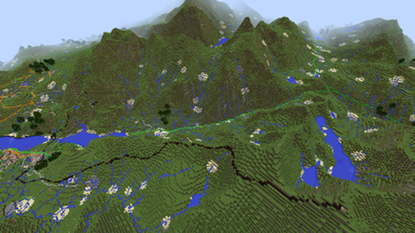 New Minecraft Ordnance Survey map has roads and railways
