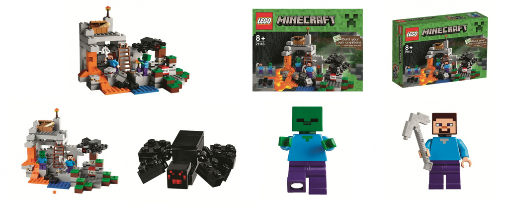The Cave LEGO Minecraft set