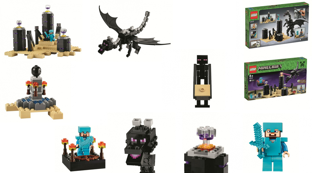 The Dragon Edge LEGO Minecraft set