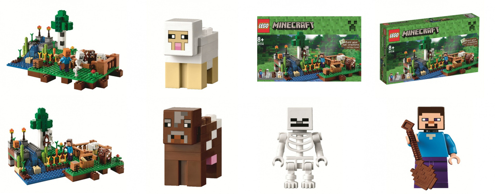 The Farm LEGO Minecraft set