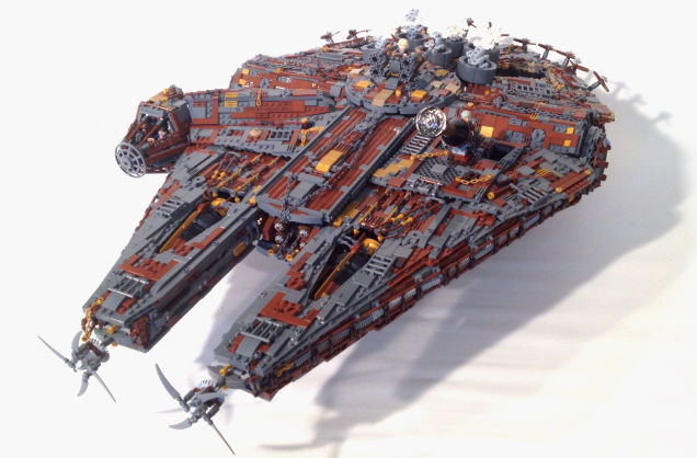 Incredible steampunk LEGO Millenium Falcon