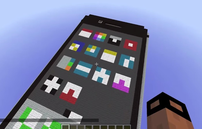 iPhone built in Minecraft!