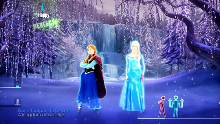 Just Dance 2015 grooves with Frozen's Ana and Elsa