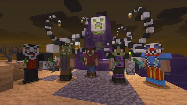Minecraft Playstation finally gets Halloween skins | BoxMash