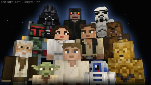 Star Wars Minecraft skins out now on Xbox One and Xbox 360