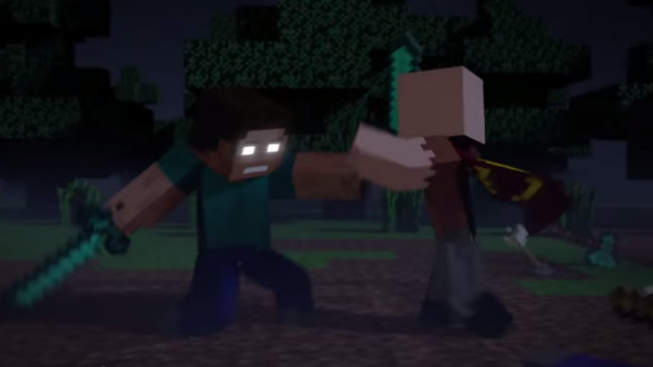 Awesome Minecraft video shows Notch and Herobrine fight