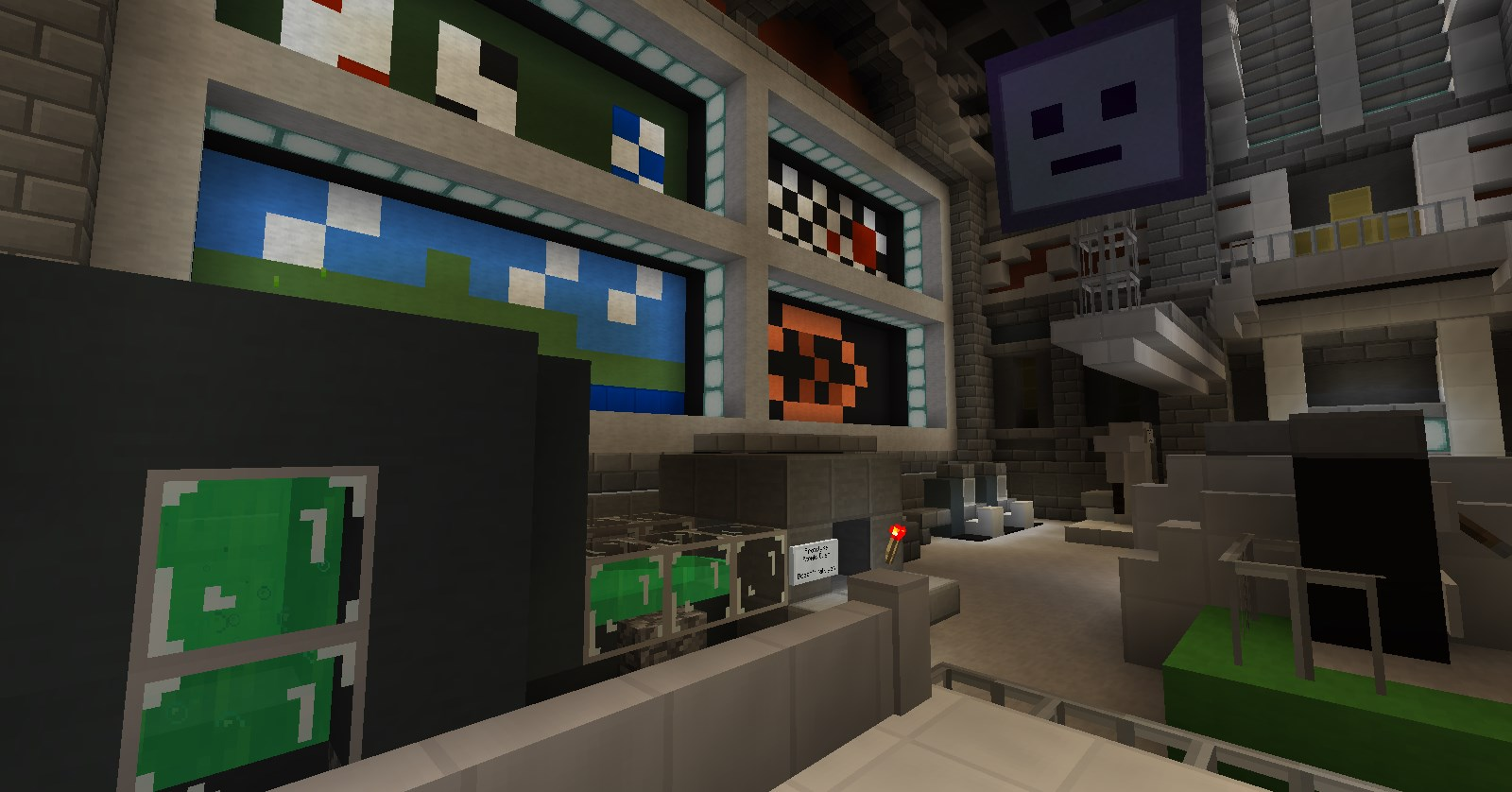 The Genius Machine is an interactive Minecraft story