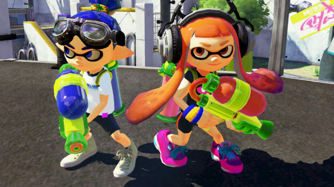 Splatoon weaponizes Squids in multiple ways