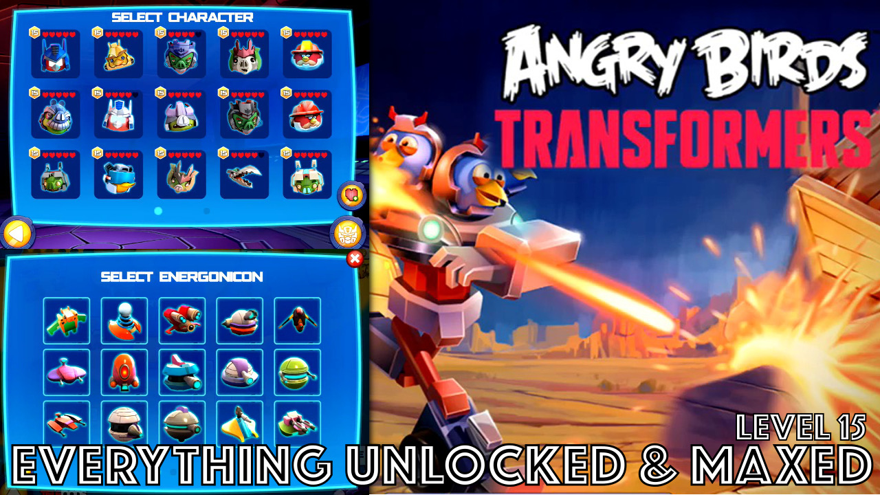 Watch Angry Birds Transformers 100% completed