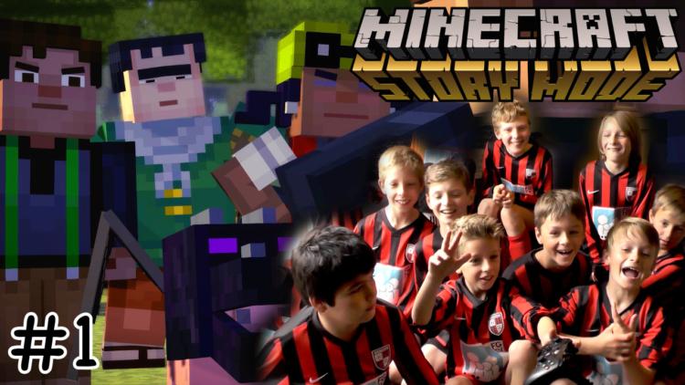 Minecraft Story Mode vs. entire boys footy team
