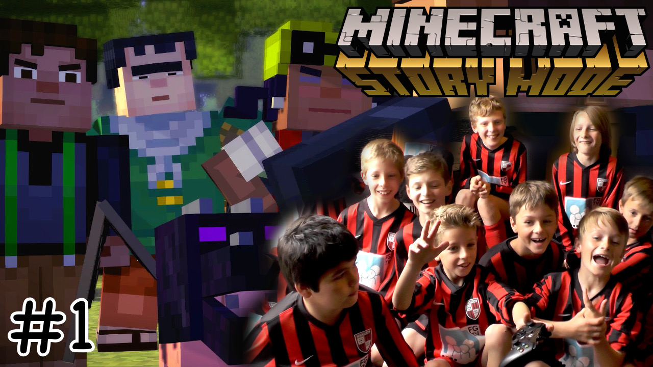 Minecraft Story Mode vs. entire boys footy team