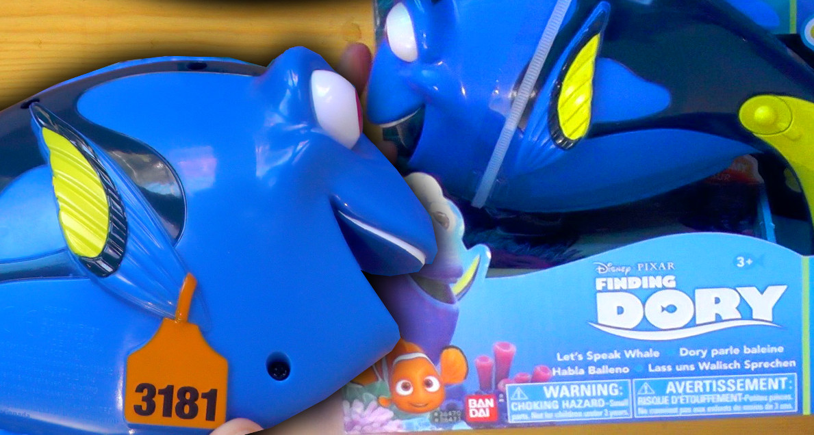 Finding Dory toys reveal mysterious tag