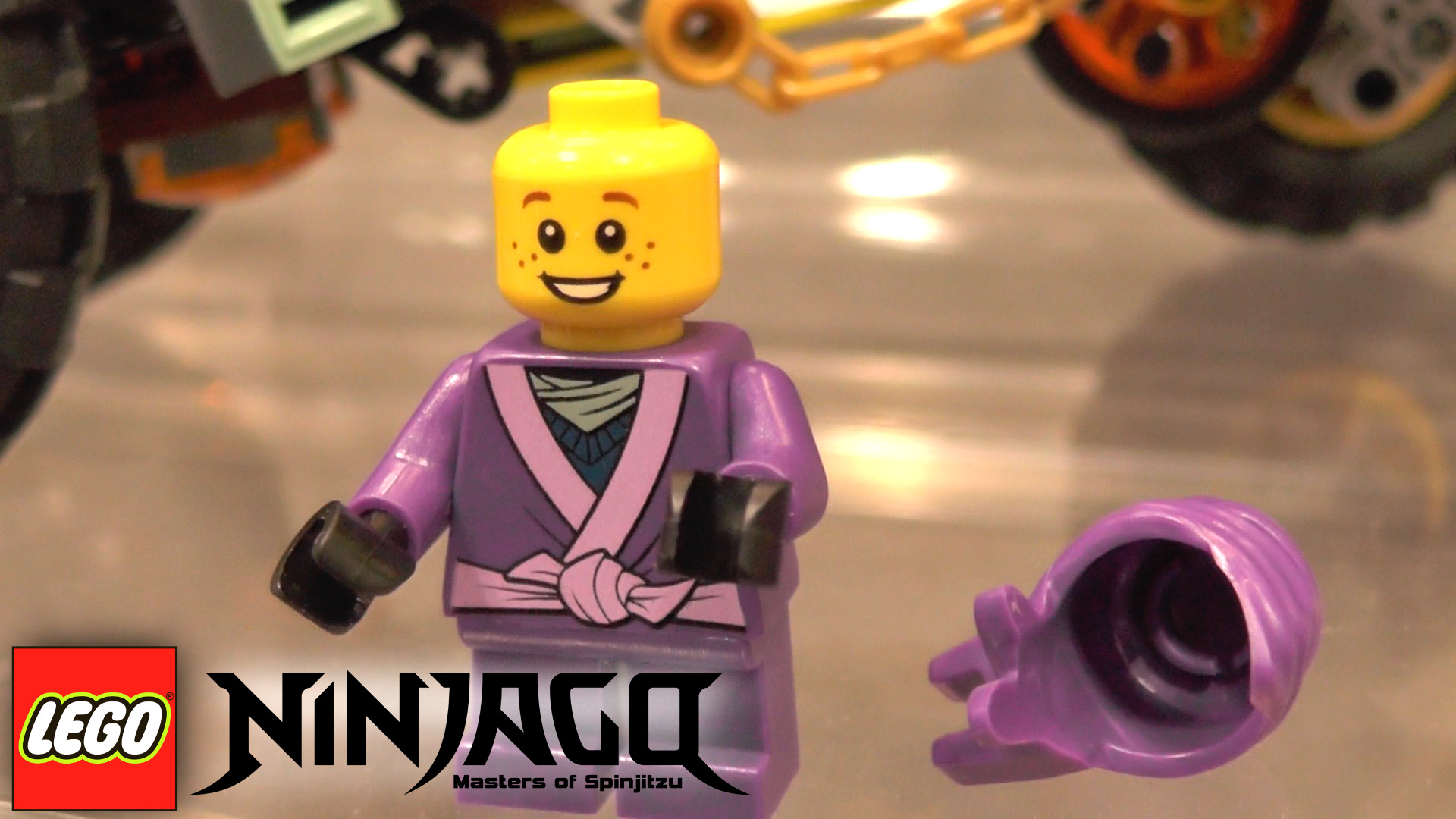 Ninjago's Little Nelson purple mini-figure spotted at Toy Fair