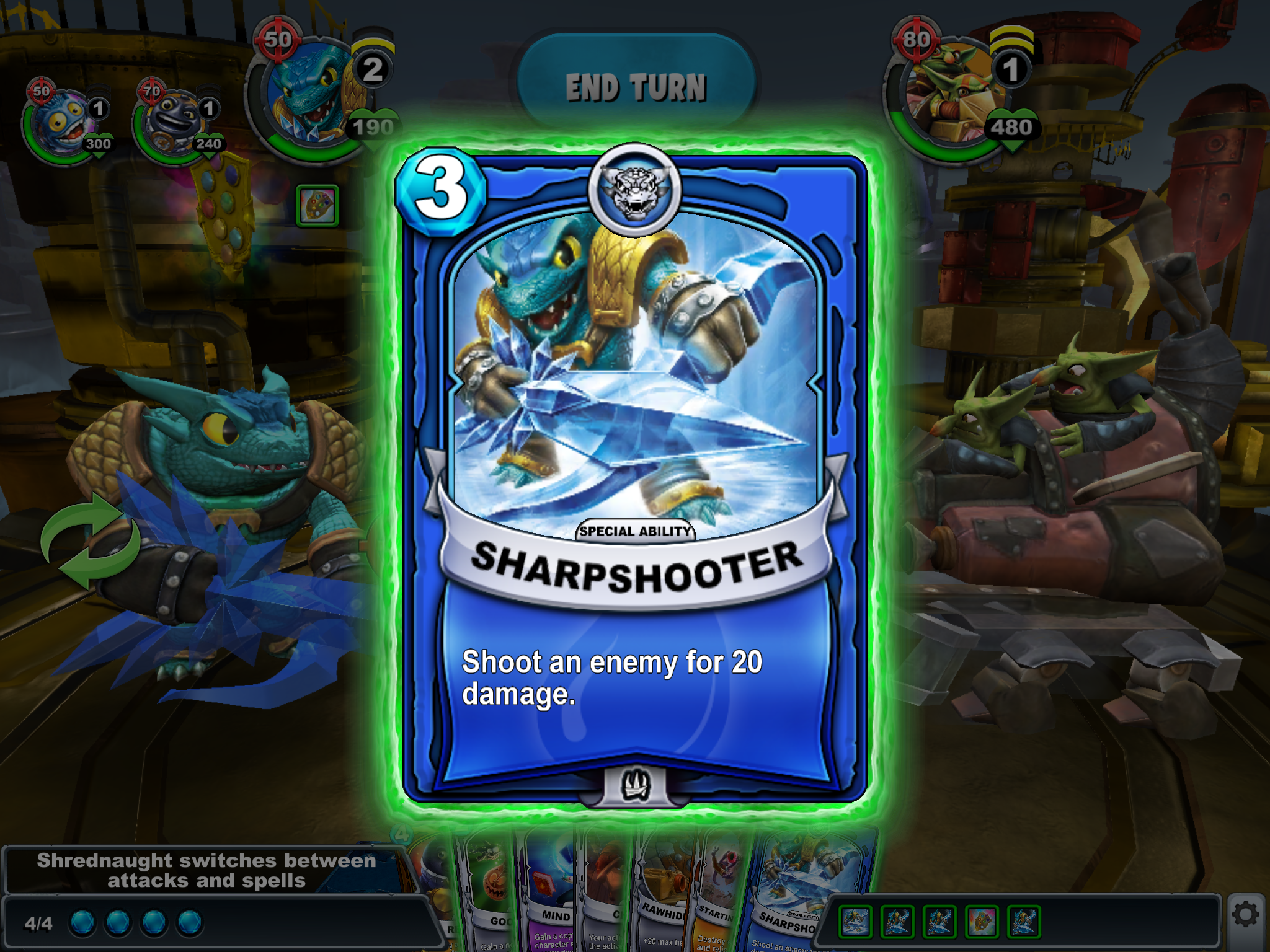 Skylanders Battlecast plays the 'collectable cards', card
